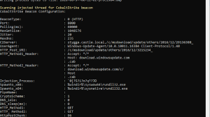 CobaltStrikeScan - Scan Files Or Process Memory For CobaltStrike Beacons And Parse Their Configuration