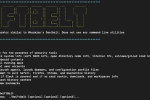 SwiftBelt - A macOS Enumeration Tool Inspired By Harmjoy'S Windows-based Seatbelt Enumeration Tool