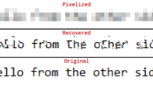 Depix - Recovers Passwords From Pixelized Screenshots