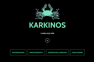 Karkinos - Penetration Testing And Hacking CTF's Swiss Army Knife With: Reverse Shell Handling - Encoding/Decoding - Encryption/Decryption - Cracking Hashes / Hashing