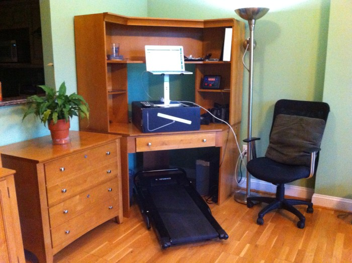 Treadmill desk setup