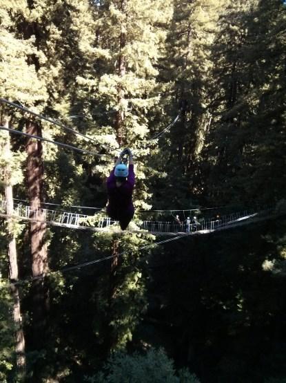 Sheri soars through the treetops