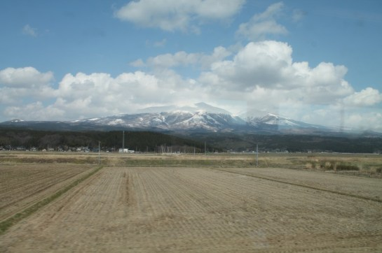 A view from a coastal train in Akita prefecture.