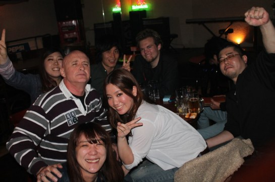 A friendly Aussie and random Japanese folks I met