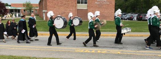 The Pentucket Regional High School drum line performed at Saturday's 2019 graduation ceremony. (Courtesy Photo Pentucket Regional School District)