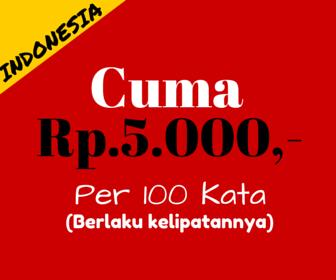 Harga Artikel Bahasa Indonesia