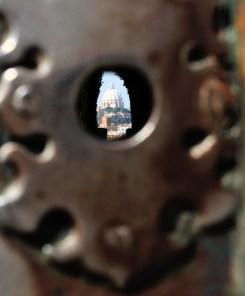 Famous keyhole.