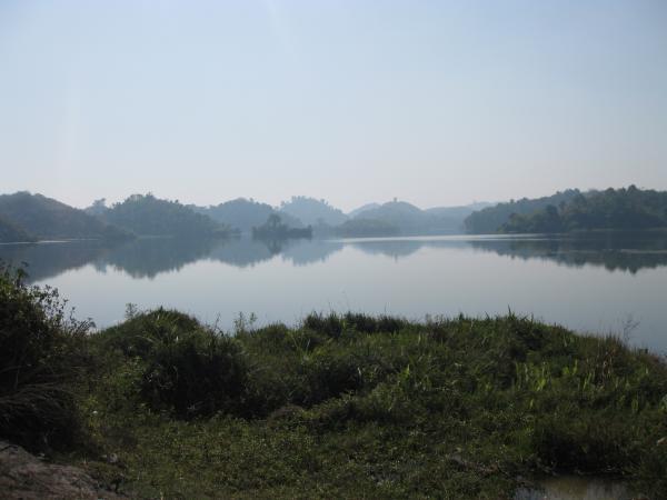 la réserve d'eau de Mrauk-U