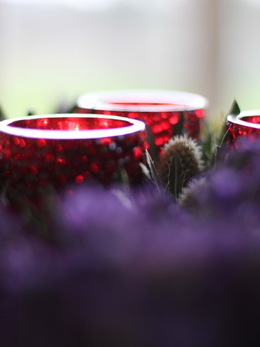 Tea Lights with Flowers