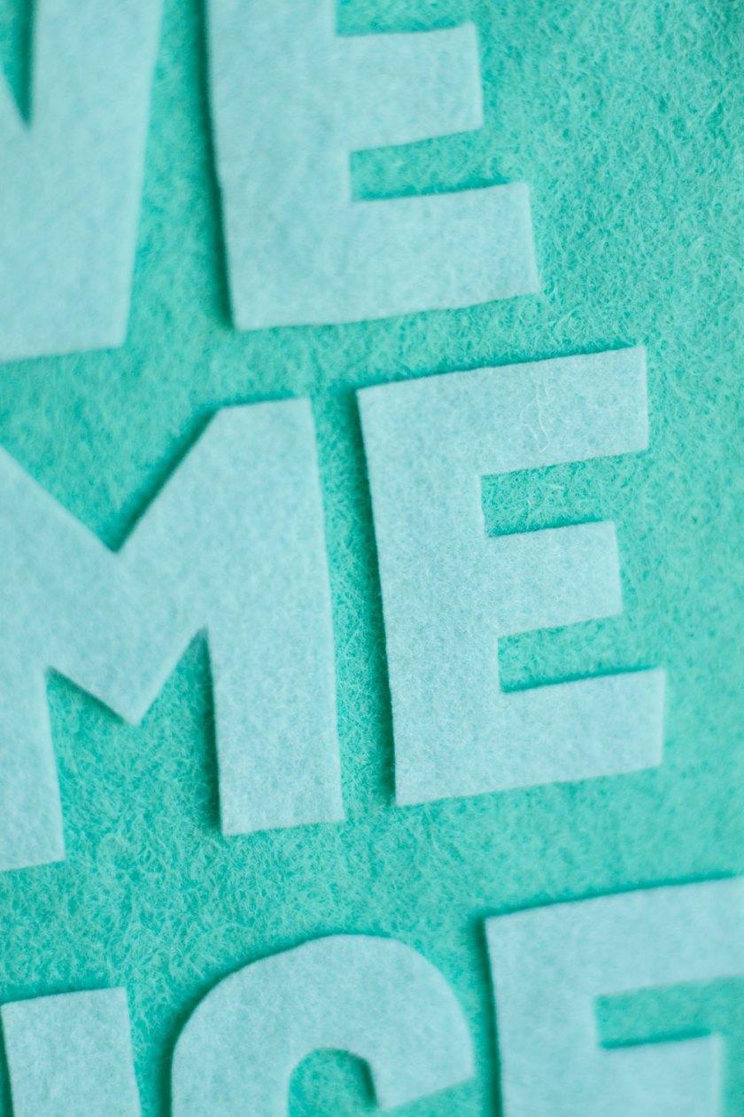 Uncategorized How To Make A Felt Banner diy how to make a felt banner peony ink learn no sew all glue no
