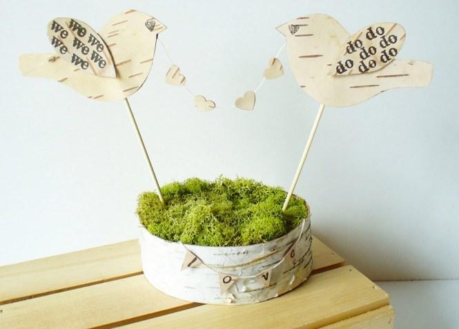 Moss Hoop Table Number Via Craftedblog