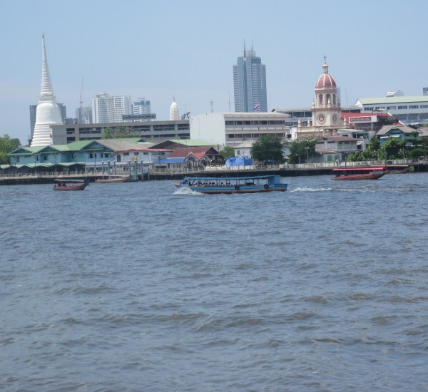 Chao Phraya River bisects Bangkok
