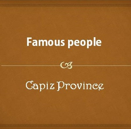 Famous people from Capiz Province