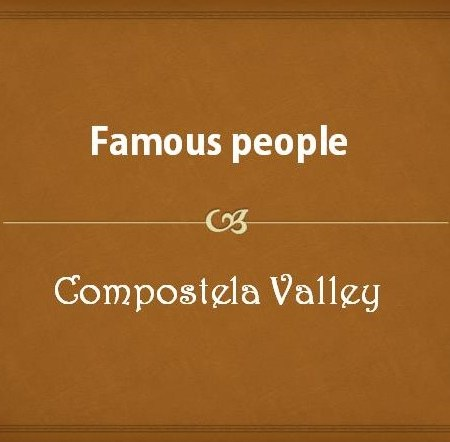 Famous people from Compostela Valley