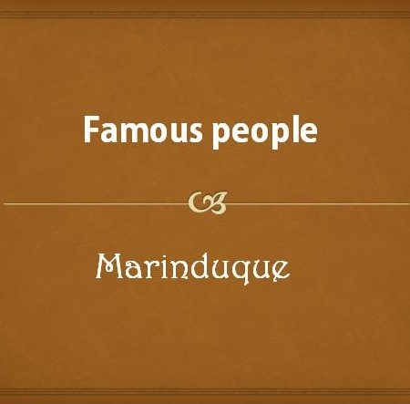 Famous people from Marinduque