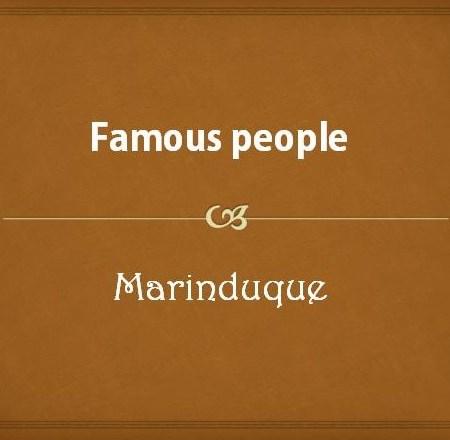 Famous people from Romblon Province