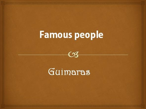 Famous People From Guimaras