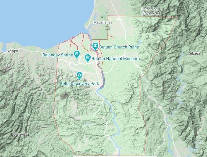 Butuan Topography Map