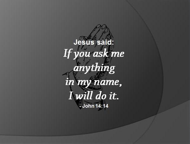 The Power of Praying In Jesus Name