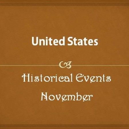 US Historical Events in November