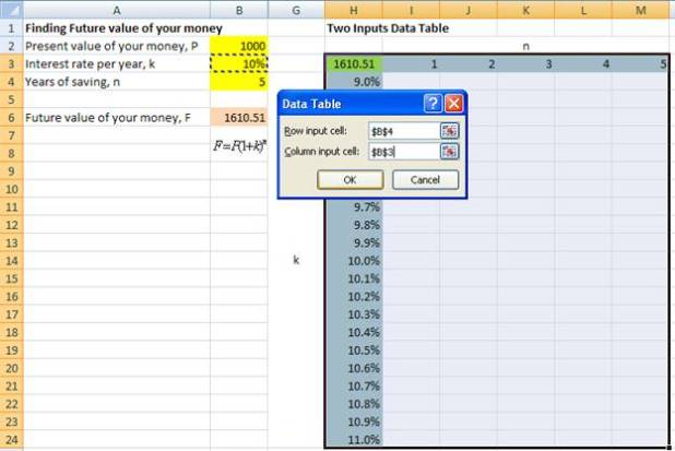 how to use a variable in excel