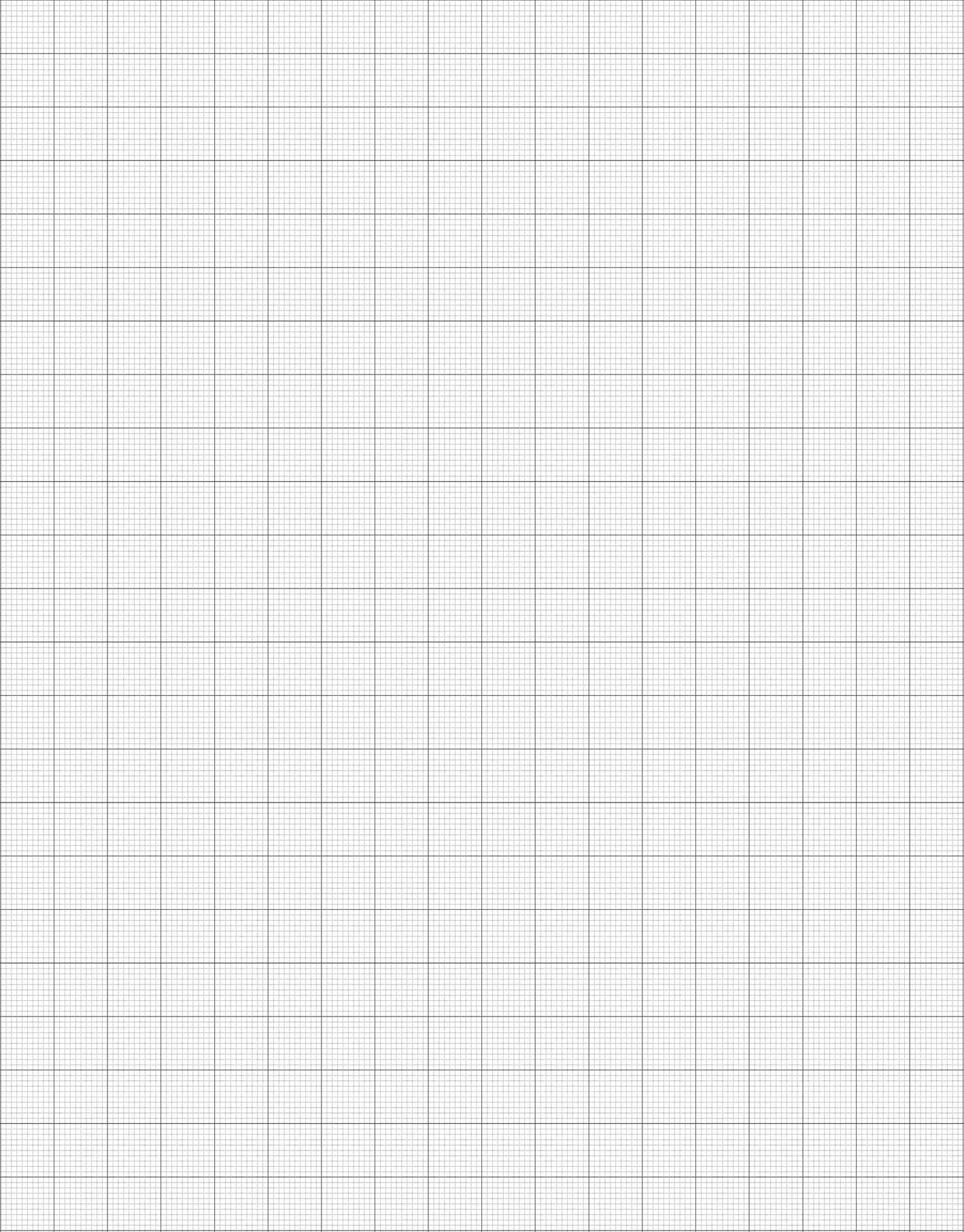 1 Inch Graph Paper Template