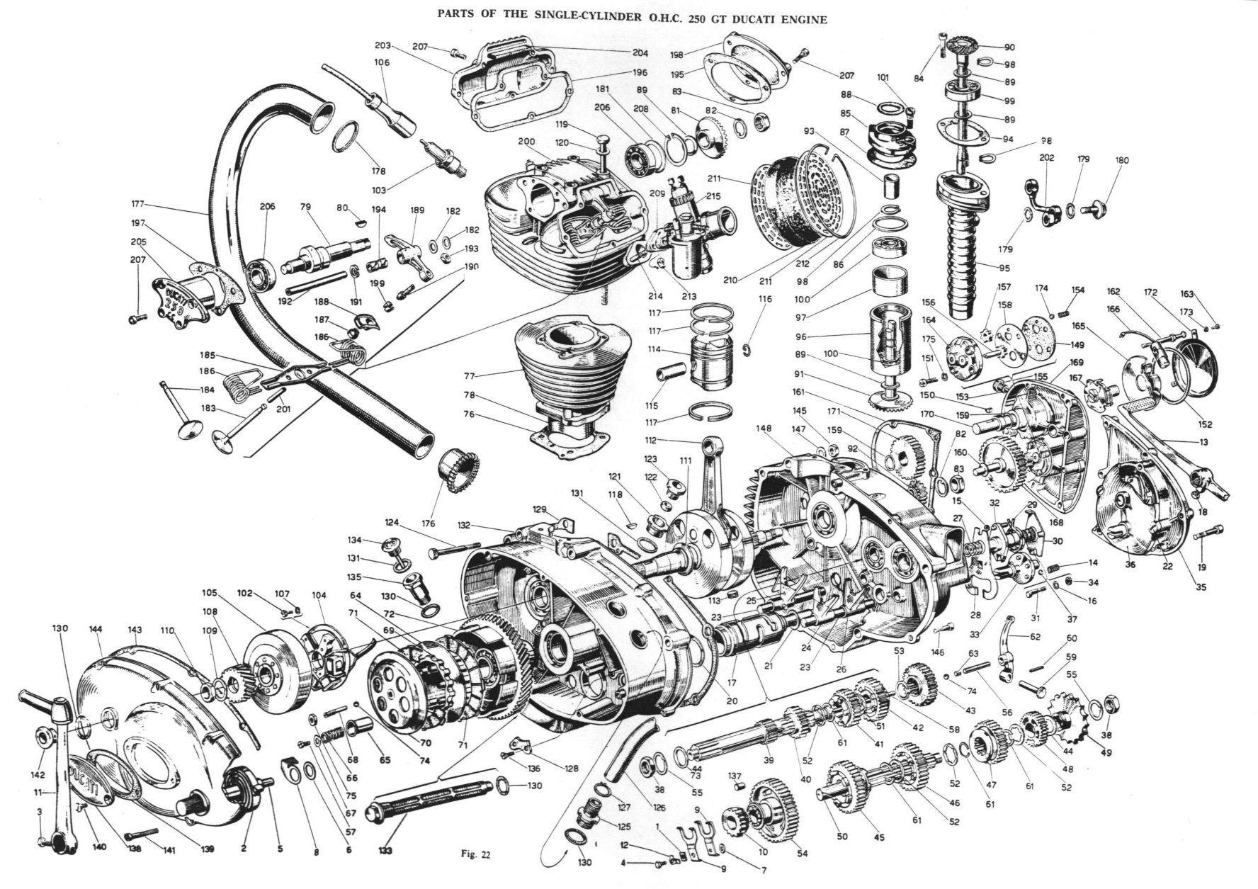 Exploded Single Motor
