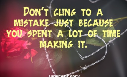Cling To A Mistake - People Development Magazine