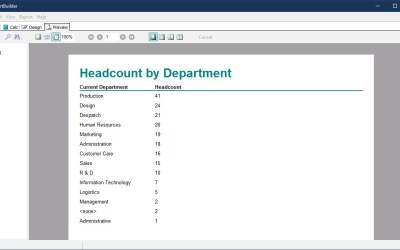 Creating a Headcount by Department Report Webinar