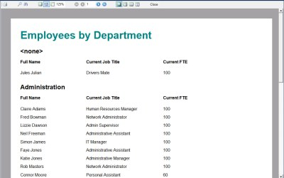 Creating an Employee by Department with totals report