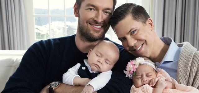 Ο εκατομμυριούχος Fredrik και ο σύντροφος του απέκτησαν δίδυμα μέσω παρένθετης μητέρας