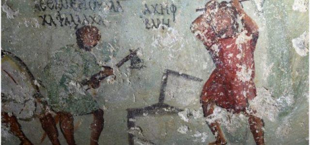 Αρχαία μορφή κόμικ ανακαλύφθηκε σε τάφο του 1ου αιώνα μ.Χ. στην Ιορδανία