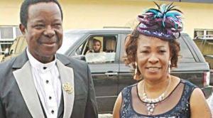 KSA with late wife, Hon. R. Adegeye