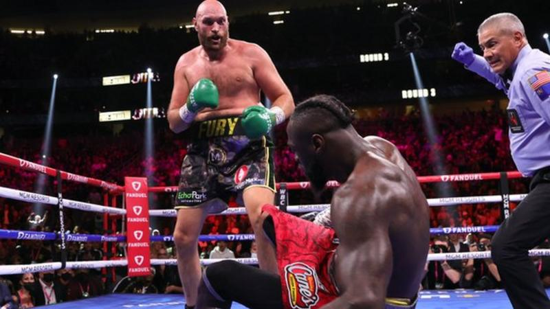 Fury knocked Wilder out