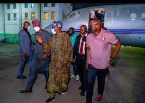 Sanwo-Olu received Asiwaju on arrival back to Lagos