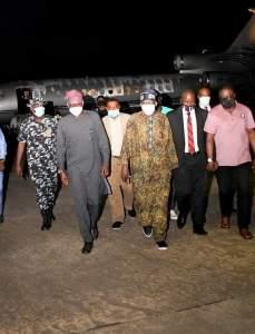 Tinubu arrived in Nigeria