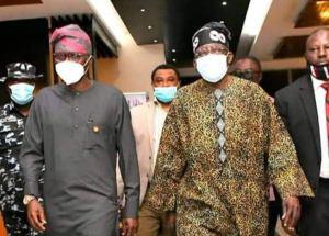 Sanwo-Olu, Tinubu as the leader arrived back to Lagos
