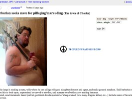 Craigslist Marauding and pillaging