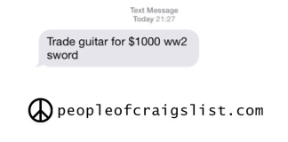 craigslist guitar for ww2 sword