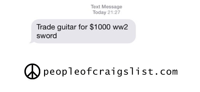craigslist guitar for ww2 sword
