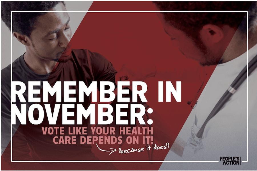 Remember in November Postcard (healthcare)