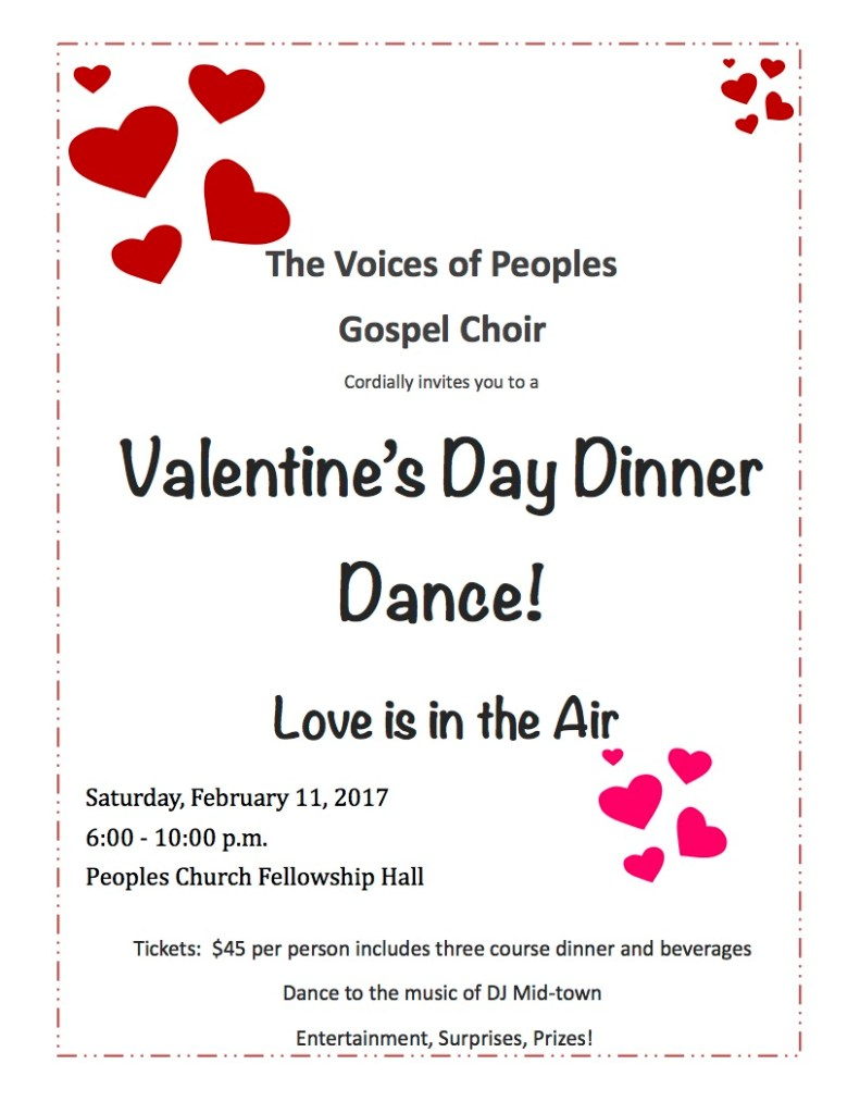 Valentine S Day Dinner Dance Peoples Church