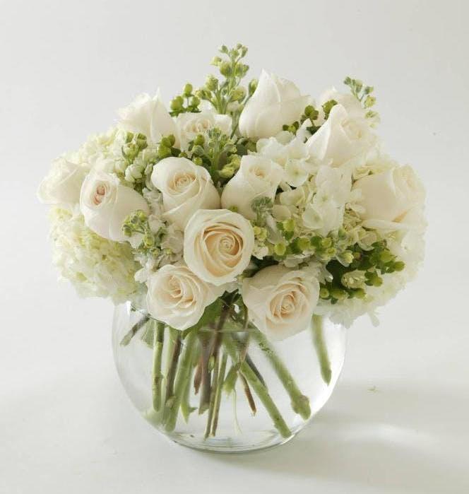 White Roses White Rose White Flower Arrangements