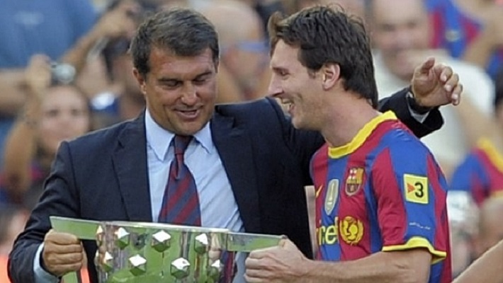 Messi and Laporta