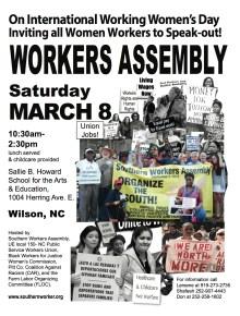 SWA IWWD Wilson Assembly, March 8, 2014 Flyer