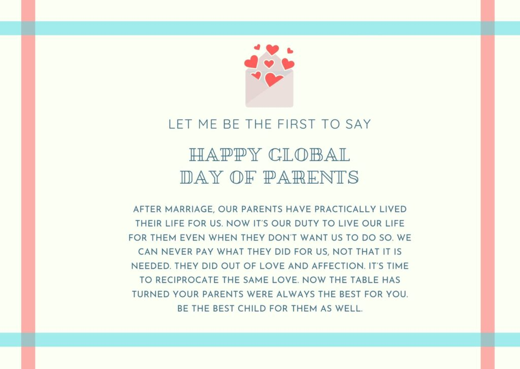 Parents Day 2020 Quotes card