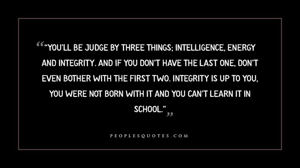 integrity quotes for business