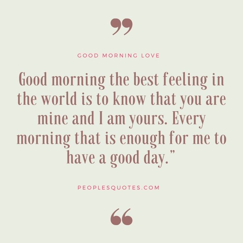 Cute Good Morning Messages For GF