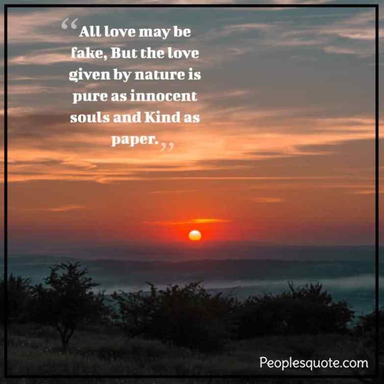 beautiful nature sunset quotes