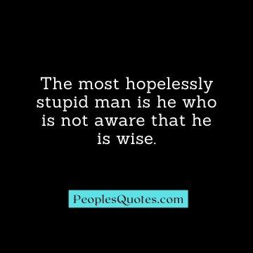 stupid man quotes